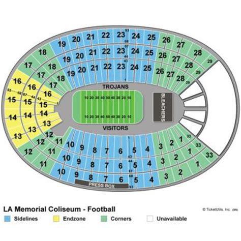 los angeles coliseum seating vipseats los angeles memorial coliseum tickets