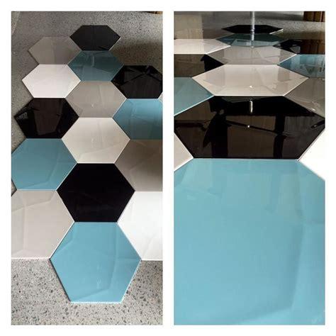 Stunning Botanical Wall Using Hexagon Tiles - just unpacked beautiful large italian hexagon wall tiles