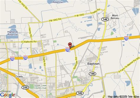 map baytown texas map of best western baytown inn baytown