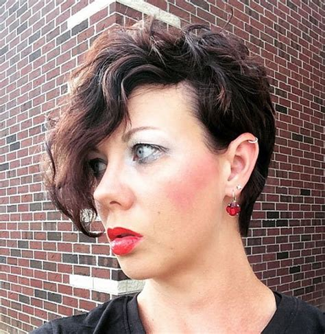 crops for thin frizzy hair 40 hottest short wavy curly pixie haircuts 2018 pixie