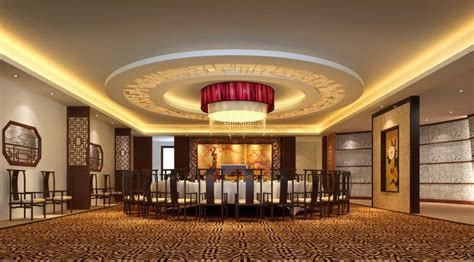 interior ceiling luxury ceiling droplight chinese restaurant interior