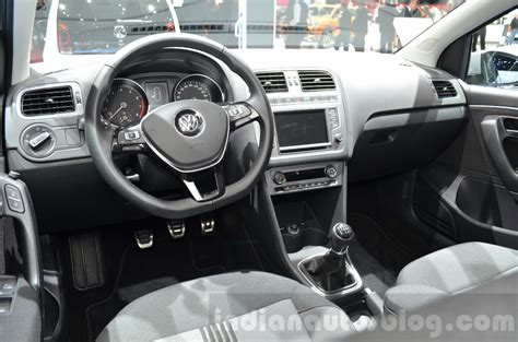 volkswagen polo 2016 interior vw polo allstar interior at the 2016 geneva motor show