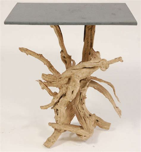 Driftwood Side Table Metal Top Driftwood Side Table For Sale At 1stdibs