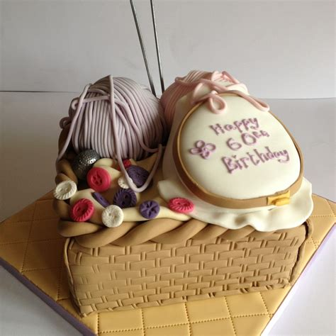 Home Decorator knitting amp sewing theme cake