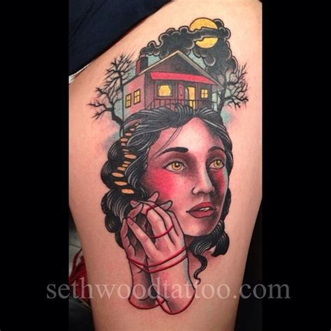 tattoo by seth wood great idea for my witch tattoo place