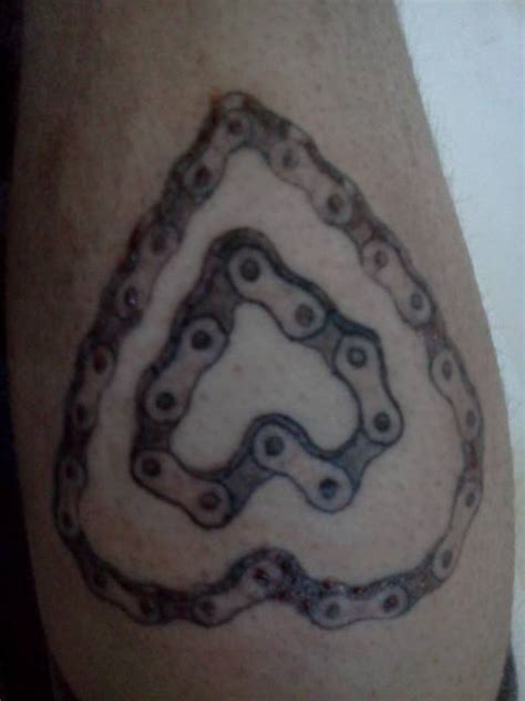 motorcycle heartbeat tattoo bike chain bicycling and the best bike ideas