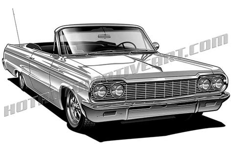 64 chevy impala convertible high quality clipart