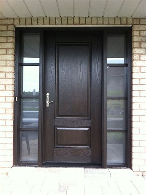 Exterior Doors Toronto Woodgrain Exterior Doors Woodgrain Doors Front Entry Doors Wood Grain Solid Door With Frosted
