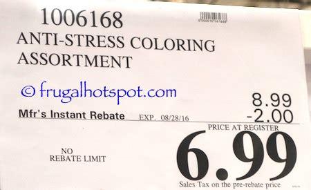anti stress coloring book price costco sale anti stress coloring book 4 99 frugal hotspot
