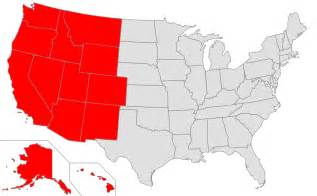 us map w states western united states