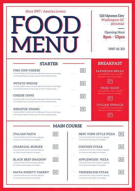 food menu modern food menu by tokosatsu graphicriver