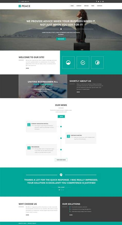Responsive Templates For Website by 15 Best Multipurpose Html5 Css3 Website Templates 2016