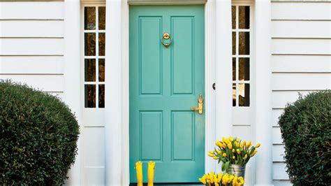 Teal Front Door Paint 5 Tips For Painting Your Front Door Southern Living