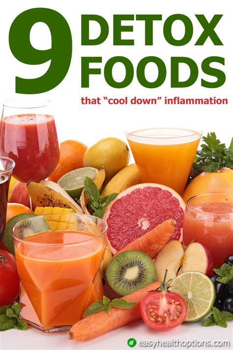 Ease Food Detox Symptoms by Nine Detox Foods That Cool Inflammation