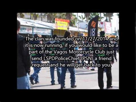 Vagos Motorcycle Club GTA 5 PS3 RP Clan Join Today!   YouTube