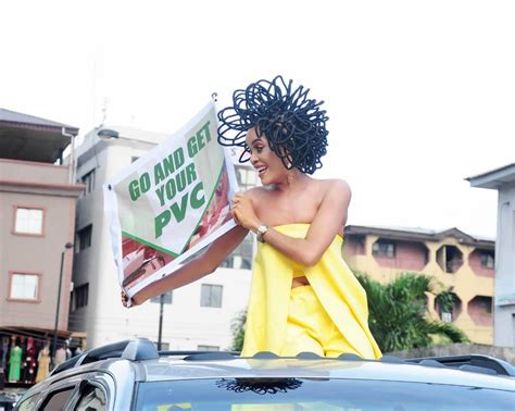 Can This Bra Encourage Voters by N40million Hair Model Chika Lann Spotted On The Of