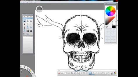 sketchbook pro speed drawing badass skull sketchbook pro 2011 speed draw