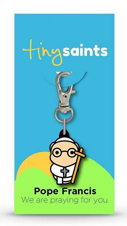 spiritual rubber sts tiny pope francis charm 1 quot durable rubber