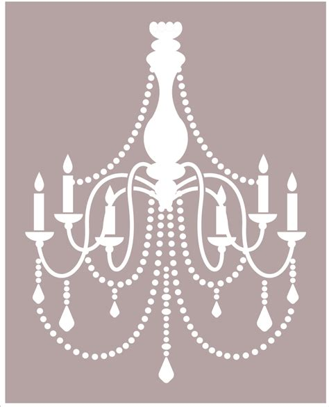 Chandelier Wall Stencil Chandelier Reusable Stencil Available In 8 Sizes Create