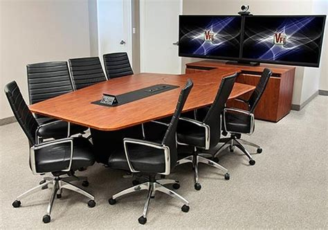 conference room av avf t4000 conference room table with rack sits 7 to 12 12 colors conference room av