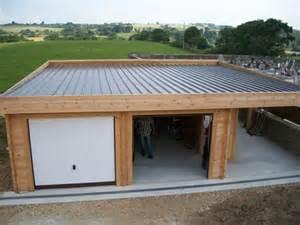garage bois toit plat comment construire garage toit plat