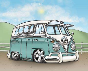 volkswagen van cartoon 58 best images about vw illustrations on pinterest