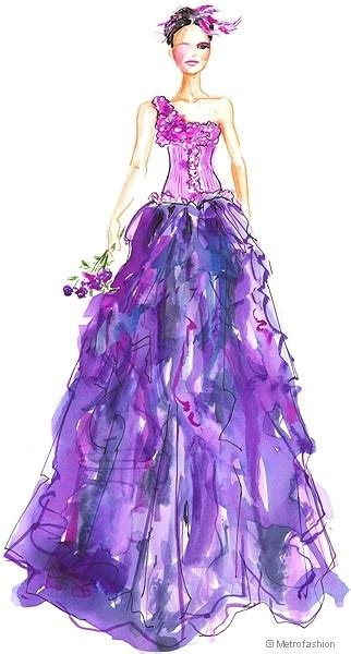 design your fashion costumed game purple prom dress sketch fashion sketches pinterest