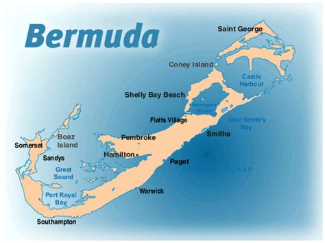 bermuda on a map bermuda vacation rental map find rentals