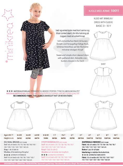 pattern paper dress 50011 dress with sleeve paper pattern minikrea