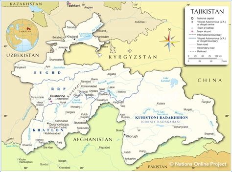 tajikistan map map of tajikistan republic of tajikistan maps mapsof net