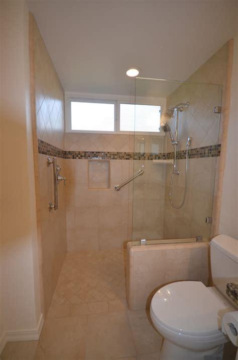 threshold bathroom zero threshold shower bathroom remodel lompoc ca