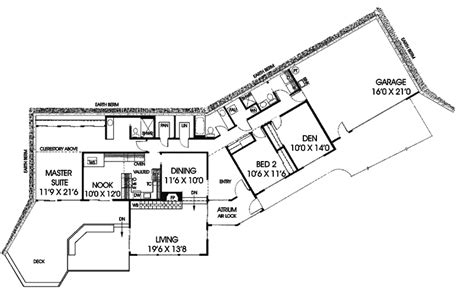 bermed house plans modern berm house plans