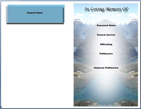 memorial service templates free 64 best images about memorial legacy program templates