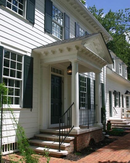 portico on colonial house classic colonial portico home design decor organization