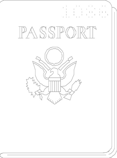 passport coloring page coloring home