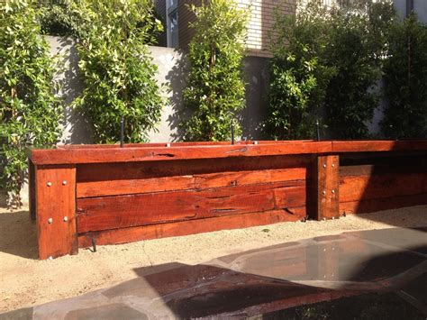 true green landscaping recycled redgum sleeper driveway 3 years ago