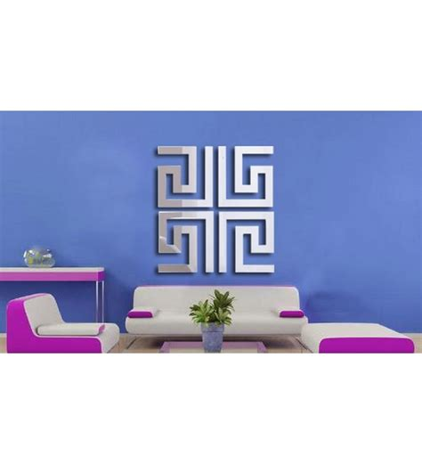 Planet Decor by Planet Decor Cross Lines Mirror Wall Sticker By Planet
