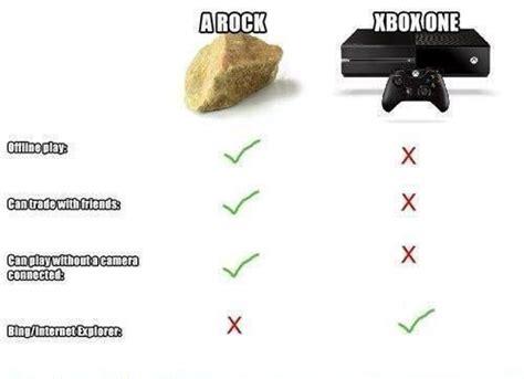 Xbox One Meme - rock vs xbox one xbox know your meme