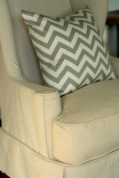 drop cloth slipcovers custom slipcovers by shelley drop cloth wingback chair