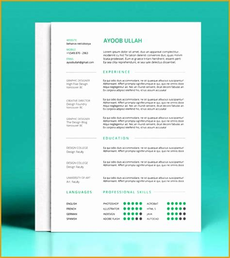 10 best free resume cv templates in ai indesign word psd formats 9 adobe indesign resume template free sles exles format resume curruculum vitae