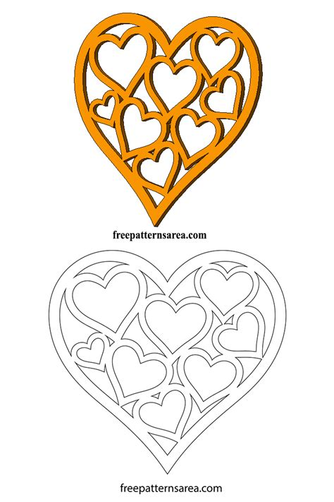 heart pattern for scroll saw heart shaped easy cut out craft dies for valentine s day
