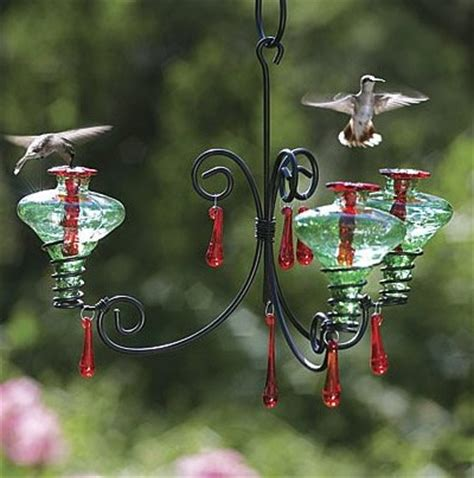 Chandelier Hummingbird Feeder Duncraft Mini Blossom 3 Chandelier