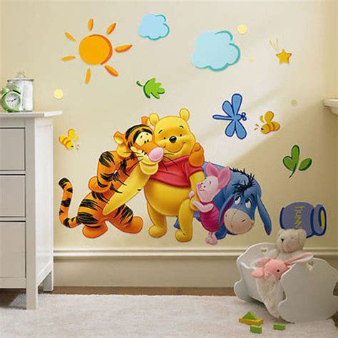 disney wall stickers for bedrooms disney winnie the pooh and friends wall sticker decal nursery room ebay