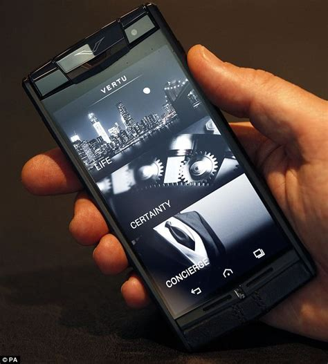 vertu phone touch screen new smartphone is made out of titanium and costs a