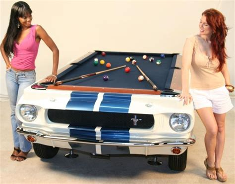 car pool tables are crafted from original classic cars