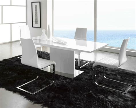 White Leather Dining Chairs And Table The Most Sophisticated White Leather Dining Chairs