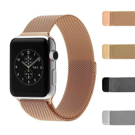 apple watch strap milanese mesh stainless steel loop strap for apple iwatch