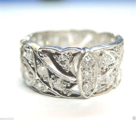 antique wedding band ring eternity vintage