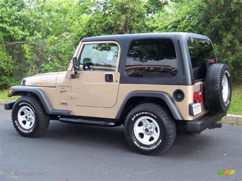 sand color jeep 2000 desert sand pearl jeep wrangler sport 4x4 49799222
