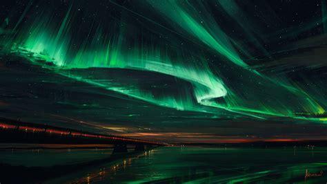 Cool Lights For Bedroom by Artstation Northern Lights Alena Aenami Wallpaper